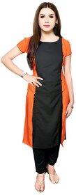 Aiza collection black stitched crepe designer kurti