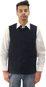 Matelco Men's Black Slim Fit Party, Casual Buttoned Blazer With Latest Stretch Fabric