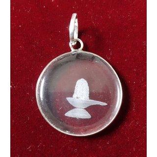 KESAR ZEMS Sphatik Pendant with engraving - Lord Shiva  KZMP009