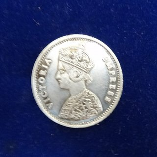 KESAR ZEMS Very Rare Old Victoria Empress Silver Color Coin