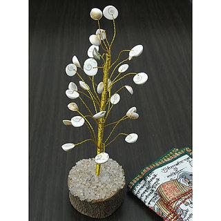 KESAR ZEMS Divine Soul Retreat Abundance gomatichakra Luck Tree  (white Colour)