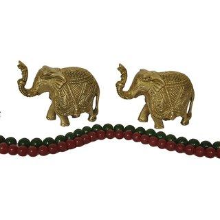 KESAR ZEMS Elegant Brass Elephant Pair