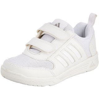 Adidas Boy's Flo K School White Velcro School Shoes