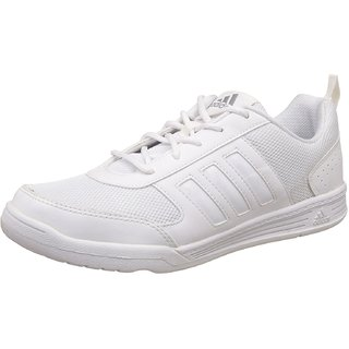 Adidas Boy's Flo White Lace School shoes |Sports Shoes