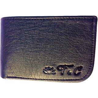 Friends & Company Men Wallet Bifold Black genuine Leatherlite Top purse wallet-StyleLookFC06