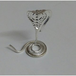 KESAR ZEMS Snake - Naga - Silver Plated for Pooja Worship