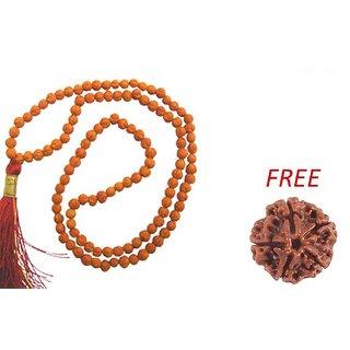 KESAR ZEMS 100 Original Real 5 Mukhi Rudraksha Mala For Jaap  5 Mukhi Rudraksha Bead FREE