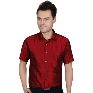 All season Silk Red men fitting shirt