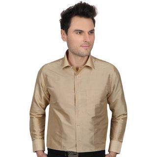 All season Silk Tafeta Gold men fitting shirt