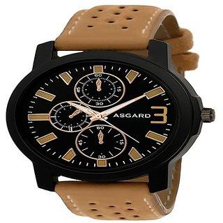 Asgard Black Dial Analog Premium Watch For Men-SH-149