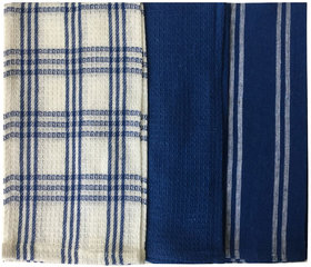 Lushomes Super Absorbent and Soft Blue Kitchen Towels (13
