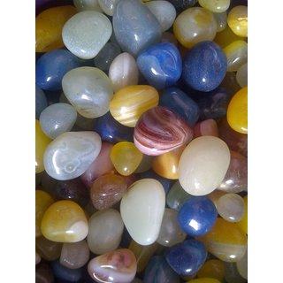 Kesar Zems Multicolor Pebbles Glossy Home Decorative Vase Fillers Stone 1 KG