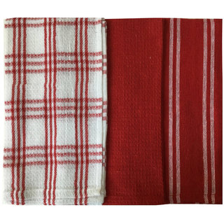 Lushomes Super Absorbent and Soft Red Kitchen Towels (13