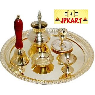 KESAR ZEMS Brass Pooja Thali set for Raksha bandhanDiwali  Holi .
