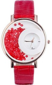 Mxre Red color Analog Watch for Women and Girls