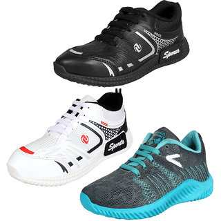 Earton Men Combo Pack of 3 Sports Running Shoes