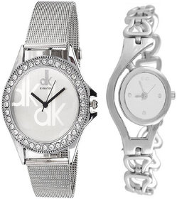 AKAG Passion For FASHION Silver Metal Strap Round Dial
