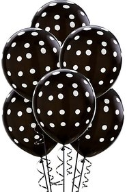 30 Pcs Black Polka Dot Party Balloons size 9-12inches for birthday anniversary parties large balloons black balloons