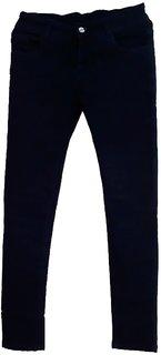 Plain dark blue denim jeans slim fit
