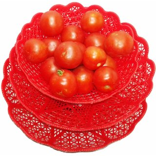 New India Home Fashion For Fruits Vegetables and Toys baskets for your daily needs in your or kitchen set of 3