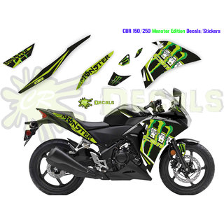 HONDA CBR MONSTER Edition Kit Custom Decals 2017 150 250