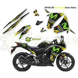 HONDA CBR VR46 MOVISTAR Edition KIT Custom Decals 2017 (CBR 150/250)