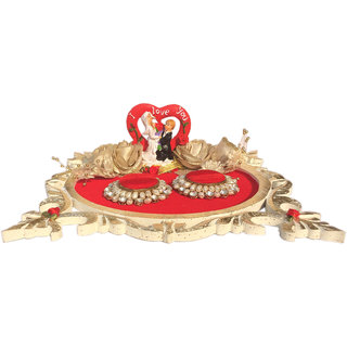 Loops n knots Texture Wooden Wedding/ Engagement Ring Platter With 2 Ring Holders (rp118)