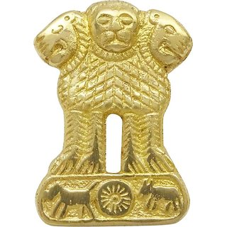 Brass Accessories Ashok-Size 7x6 Cms For Bullet Motorcycle