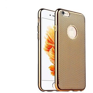 Rubberized Dotted Back Cover Case For Iphone 6 - Gold