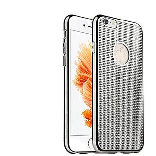 Luxury Grid Pattern Dotted Finish Design Soft Back Case Cover for iPhone 6 / 6S - silver