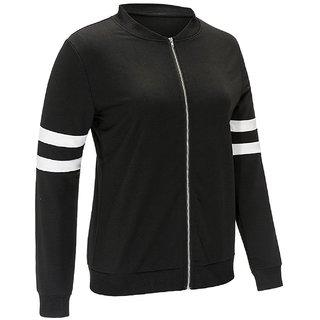 Raabta Black Sweatshirt with Band Color