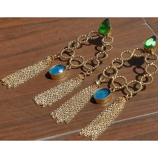 Rewazcreations Gold Plated Gold Alloy Dangle Earrings For Women