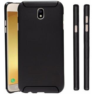 Premium Soft Silicone Back Case Cover For Samsung Galaxy J7 Pro Black