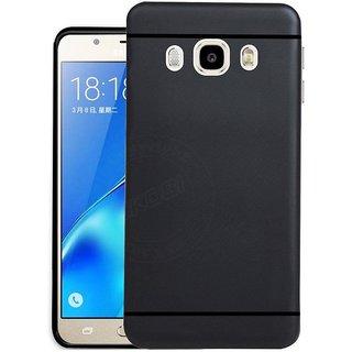 Premium Soft Silicone Back Case Cover for Samsung Galaxy J7 2016 Black