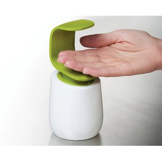C-Pump Single-Handed Soap Dispenser/ Soap Bottle (White and Green)
