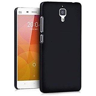 Premium Soft Silicone Back Case Cover for M-i 4 Black