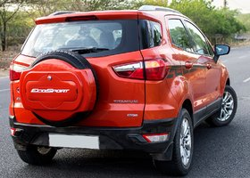FUTURE IT IS HALF/SPORTY SPARE WHEEL COVER FOR FORD ECOSPORT(MARS RED)