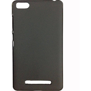 Premium Silicon Soft Back Case Cover for M-i 4i Black