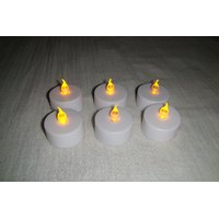 LED Candle Flameless Tea Light Flickering Candle Light Set Of 12 Led Diyas