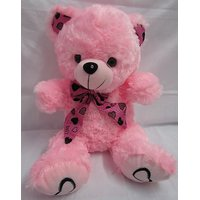 Teddy Bear Soft Toy 1.5 Feet = 17 Inch Wearing Ribbon Color Pink