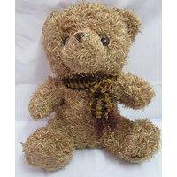 Teddy Bear Soft Toy 1.1 Feet = 13 Inch Wearing Mufler Color Brown