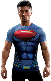 Superman 3D gym compression T-Shirt by Treemoda