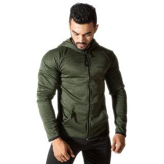 GymX Mens Cotton Army Green- Vortex Hoodies-Army Green