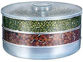 Hygienic Sprout Maker With Three Plastic Compartment For Multi Purpose Use by Deep