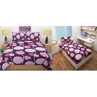 furnishingzone bedsheet (1 double bedsheet 2 pillow cover 1 singlebedsheet 1 pillow cover)