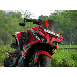 buy pulsar rs 200 custom decals stickers sport edition kit red