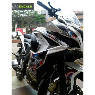 PULSAR RS 200 Custom Decals/Stickers CAPTAIN AMERICA Edition Kit