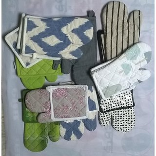 Microwave Oven Glove and Pot Holder ()Assorted Color