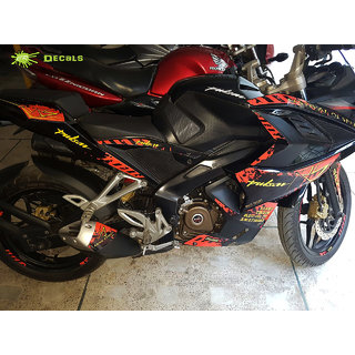 PULSAR RS 200 Custom Decals/Stickers FESTIVAL OF SPEED Edition Kit RED