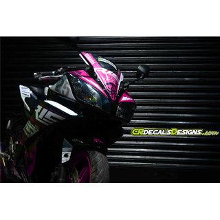 YAMAHA R15 V2 Full Body Wrap Custom Decals/Stickers MOTOGP 25 Inspired RACE Kit-PINK